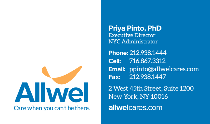 Allwel - Business Card