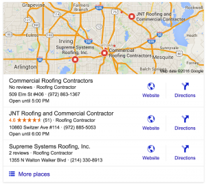 How to get google reviews roofing contractor